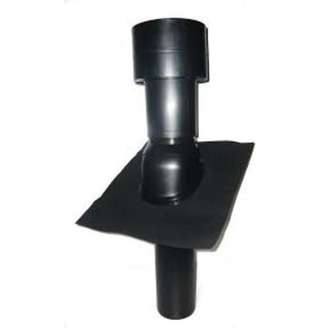 UB49 INSULATED ROOF TERMINAL 160MM BLACK