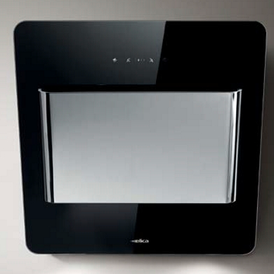 Elica Verve Black Glass and Stainless Steel