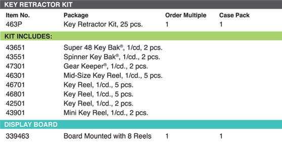 Lucky Line Key Retractor Kit