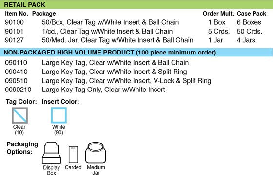 Lucky Line large key tag grid