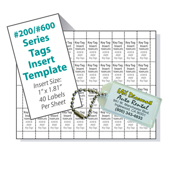 Lucky Line 200 and 600 Series Tag Template printable download