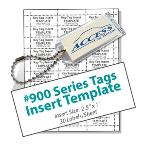 Lucky Line 900 Series Tag Template printable download