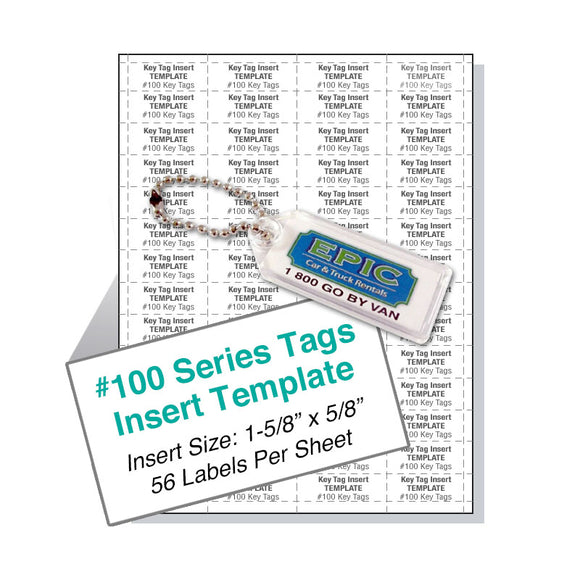 100 Series Horizontal Tag Template