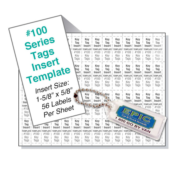 100 Series Vertical Tag Template