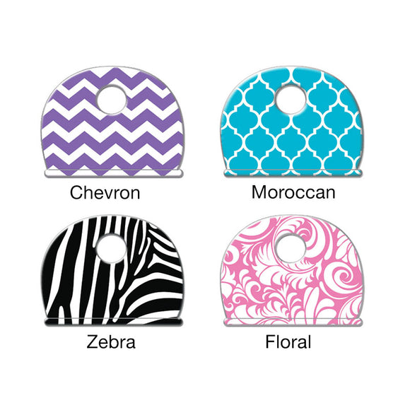 Lucky Line designer key caps chevron Moroccan zebra and floral print 163