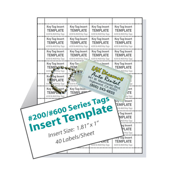 Lucky Line 200 and 600 Series Horizontal Tag Template printable download