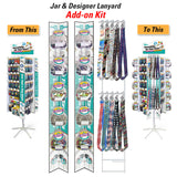 Lucky Line Add-On Kit For 3-Panel Display retail solutions for locksmiths and hardware stores