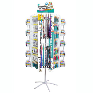 Lucky Line Revolving Floor Display w/ Jars & Lanyards retail solutions for locksmiths and hardware stores