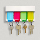 Lucky Line 4-Key Tag Rack to organize keys.  Comes with adhesive to stick to the wall or can screw in 60540