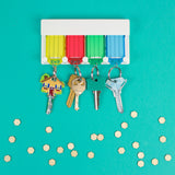 colorful key  tag racks