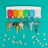 colorful key tag rack by lucky line