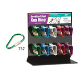 Lucky Line Anodized Oval Key Ring Display retail solutions for locksmith and hardware stores