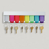 Lucky Line 8-Key Tag Rack to organize keys.  Comes with adhesive to stick to the wall or can screw in 60580