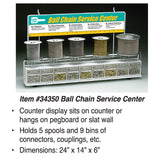 Lucky Line Ball Chain Service Center Spool with Connectors Counter Retail Display 34350