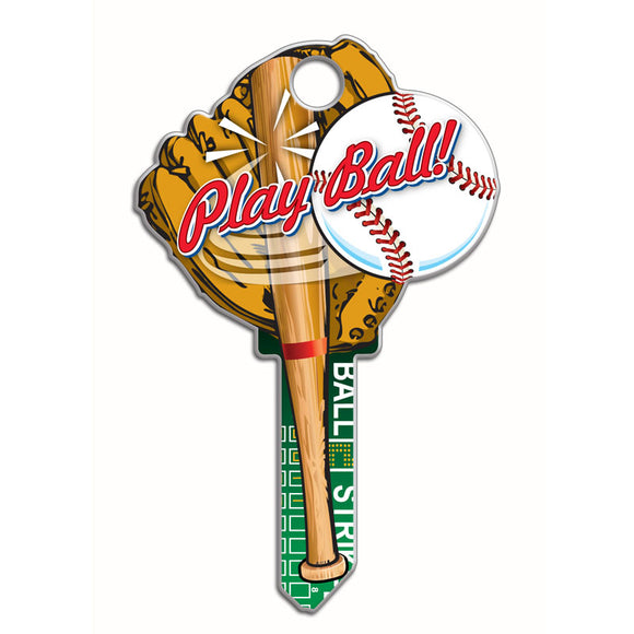 Lucky Line Baseball Key Shapes decorative house key B120