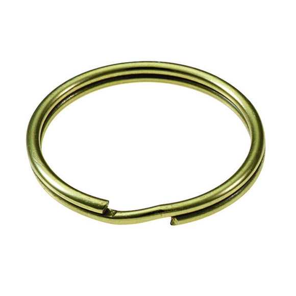 Lucky Line solid brass key ring durable enough to hold multiple keys securely. 803 804