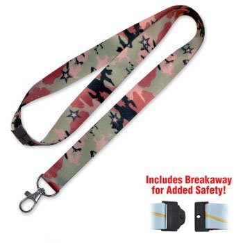 Lucky Line Camouflage Lanyard camo print to support our troops. Lanyards for carrying keys badge or other items