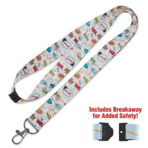 Lucky Line Comic Lanyard to wear around your neck and easily attached keys, a badge, or other small items C203