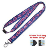 Lucky Line Hibiscus Lanyard fits comfortably around the neck to hold badge keys or small items C205