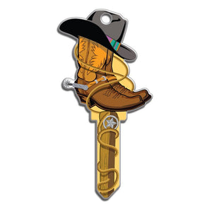 Lucky Line Cowboy Key Shapes decorative house key B132