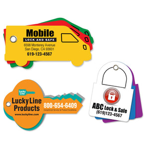 Lucky Line Custom Paper Key Tag for your business or event