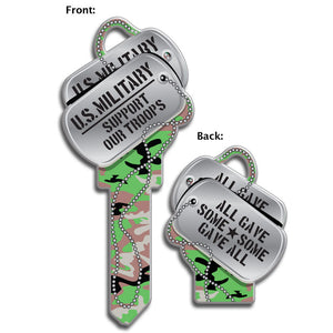Lucky Line Military Amy Tags Dog Tags Key Shapes decorative house key B141