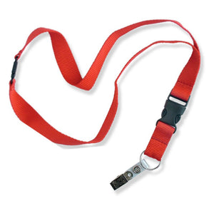 Lucky Line flat lanyard comes in assorted colors fits around neck to carry badge keys or small items 641