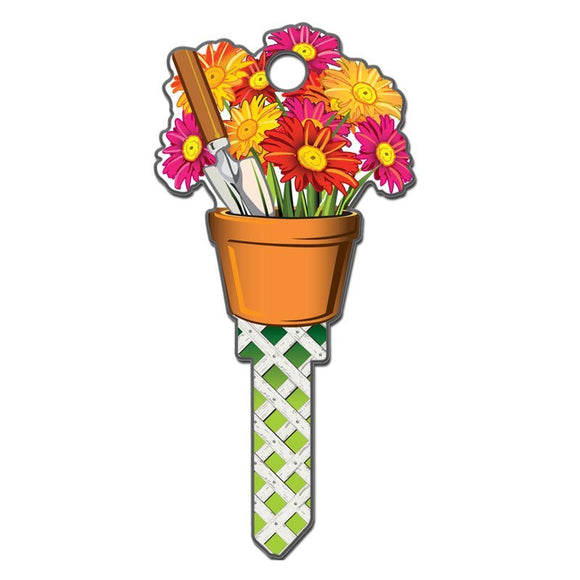 Lucky Line Flower Gardening Key Shapes decorative house key B142