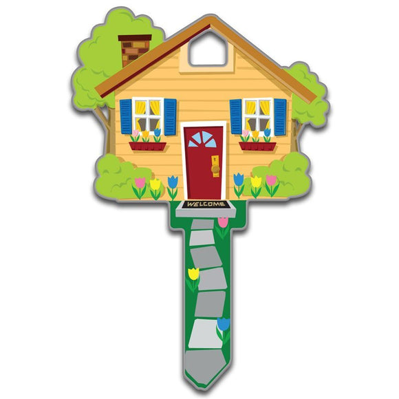 Lucky Line Houses Key Shapes decorative house key B105