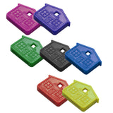 Lucky Line House Key Caps key identifier in red pink blue green purple black yellow neon orange