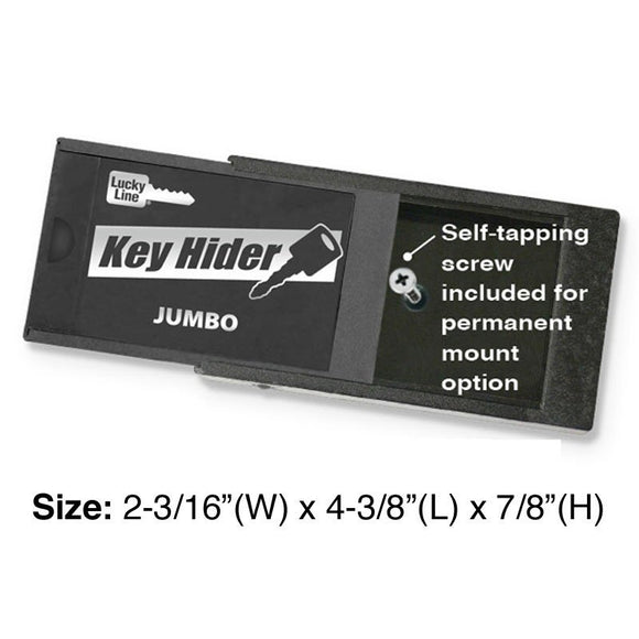 jumbo magnetic key hider for spare keys and valuable items