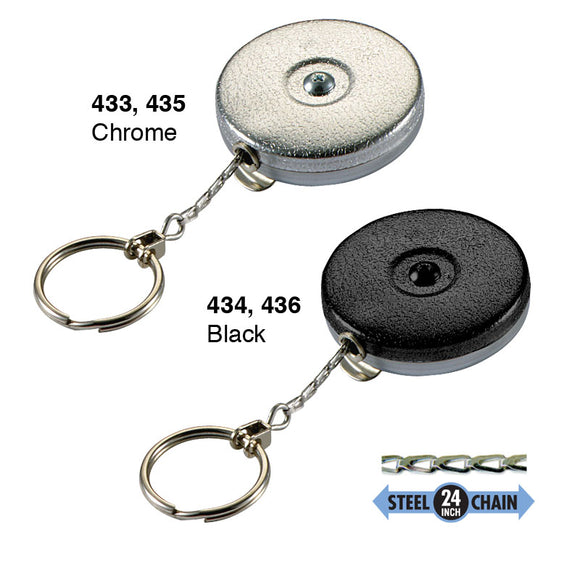 Lucky Line Key Bak clip on high quality key reel 433 434 435 436