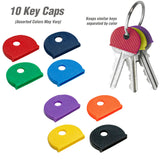 Lucky Line Key ID and Organization Kit color code and identify your keys.  Keep keys organized with key caps, identifiers, key tags, and key rings E7017507