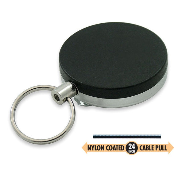 Lucky Line Key Reel clips onto your belt with retractable cord 425