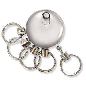 Lucky Line key release key organizer with 5 separate key rings 427