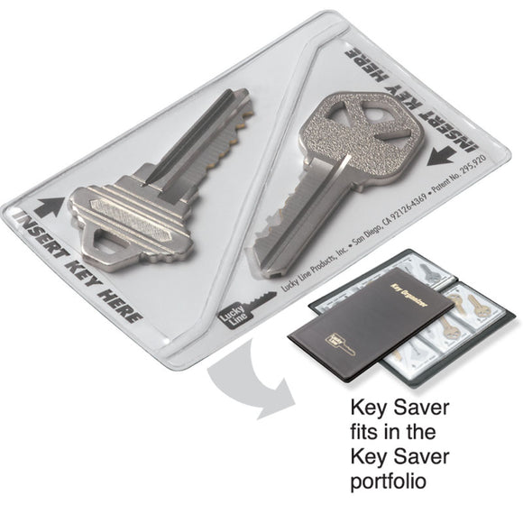 Lucky Line key savers designed to carry your spare key. credit card size for a wallet 916 917