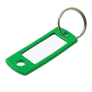 Lucky Line key tag with ring flexible colored plastic key tag for multi-key systems 169