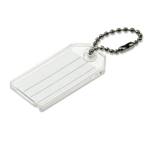 Lucky Line key tag with ball chain durable tag for keys and luggage 201