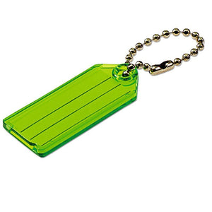 Lucky Line key tag with ball chain great plastic tag for luggage with paper insert 101