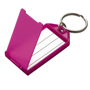 Lucky Line key tag with flap & split ring paper insert for identification and key organization 604 605