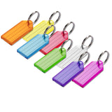Lucky Line Key Tag with split ring durable transparent tag for keys or luggage 104