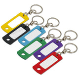 Lucky Line Key Tag with swivel ring 168 flexible tag with metal swivel for full range of motion