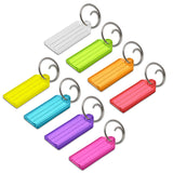 Lucky Line key tag with tang ring key tag durable transparent tag for keys or luggage 123