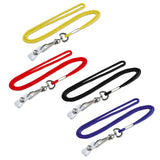 Lucky Line Lanyard with Badge Holder fits comfortably around the neck made of woven nylon 424