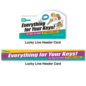 Lucky Line Header Cards retail solutions for locksmiths and hardware stores