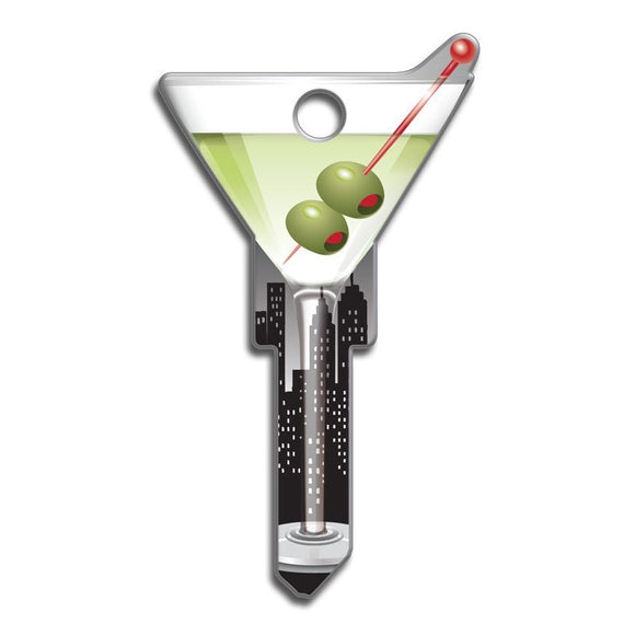 Lucky Line Martini Key Shapes decorative house key B133
