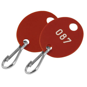 Lucky Line oval cabinet tags 258 for use in key cabinets supplied with a hook.