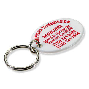 Lucky Line custom print Oval Key Fob and key ring 954404