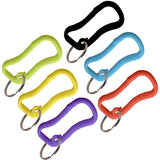 Lucky Line Quik Clip Belt Clip plastic carabiner with key ring comes in multiple colors