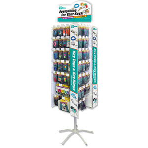 Lucky Line Revolving Floor Display retail solutions for locksmiths and hardware stores